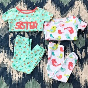 Just One You by Carter's Girls 2T Pajamas VGUC💕